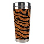 SKIN2 BLACK MARBLE & RUSTED METAL Stainless Steel Travel Tumblers Left