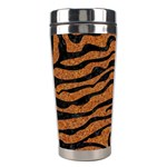 SKIN2 BLACK MARBLE & RUSTED METAL Stainless Steel Travel Tumblers Right