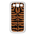 SKIN2 BLACK MARBLE & RUSTED METAL Samsung Galaxy S3 Back Case (White) Front
