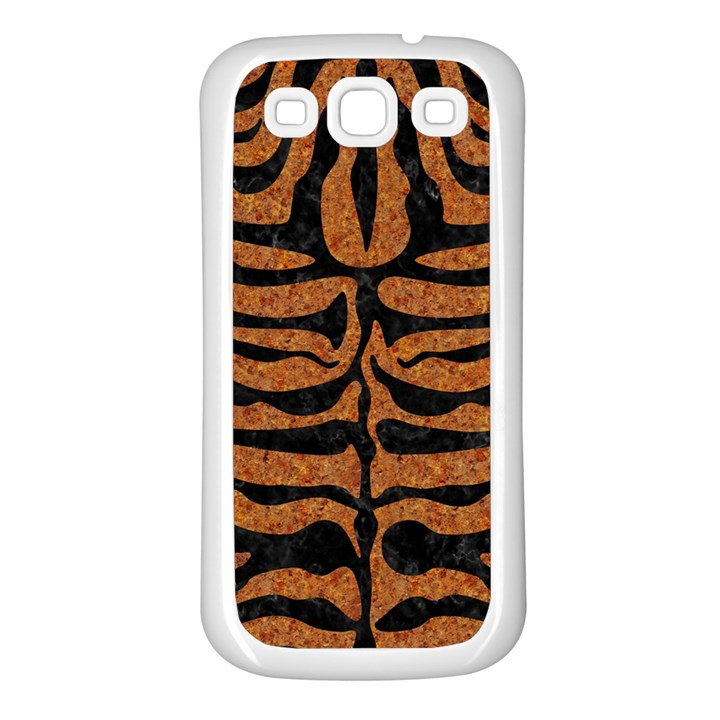 SKIN2 BLACK MARBLE & RUSTED METAL Samsung Galaxy S3 Back Case (White)