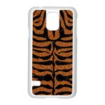 SKIN2 BLACK MARBLE & RUSTED METAL Samsung Galaxy S5 Case (White) Front