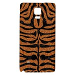 SKIN2 BLACK MARBLE & RUSTED METAL Galaxy Note 4 Back Case Front