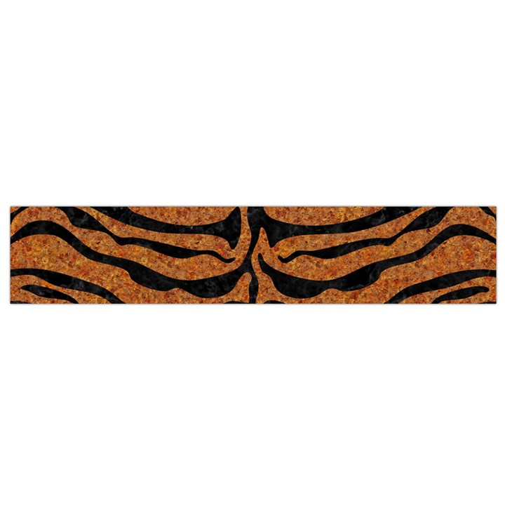 SKIN2 BLACK MARBLE & RUSTED METAL Flano Scarf (Small)