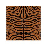 SKIN2 BLACK MARBLE & RUSTED METAL Small Satin Scarf (Square) Front