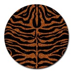 SKIN2 BLACK MARBLE & RUSTED METAL (R) Round Mousepads Front