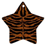 SKIN2 BLACK MARBLE & RUSTED METAL (R) Ornament (Star) Front