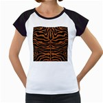 SKIN2 BLACK MARBLE & RUSTED METAL (R) Women s Cap Sleeve T Front