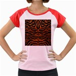 SKIN2 BLACK MARBLE & RUSTED METAL (R) Women s Cap Sleeve T-Shirt Front
