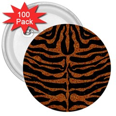 Skin2 Black Marble & Rusted Metal (r) 3  Buttons (100 Pack)