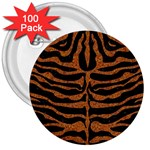 SKIN2 BLACK MARBLE & RUSTED METAL (R) 3  Buttons (100 pack)  Front