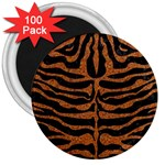 SKIN2 BLACK MARBLE & RUSTED METAL (R) 3  Magnets (100 pack) Front