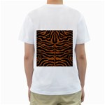 SKIN2 BLACK MARBLE & RUSTED METAL (R) Men s T-Shirt (White) (Two Sided) Back