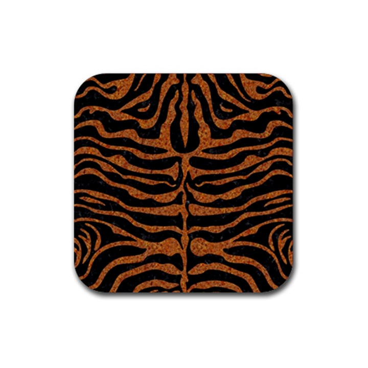 SKIN2 BLACK MARBLE & RUSTED METAL (R) Rubber Coaster (Square)