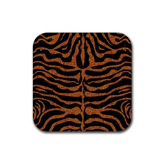 Skin2 Black Marble & Rusted Metal (r) Rubber Square Coaster (4 Pack)