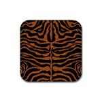 SKIN2 BLACK MARBLE & RUSTED METAL (R) Rubber Square Coaster (4 pack)  Front