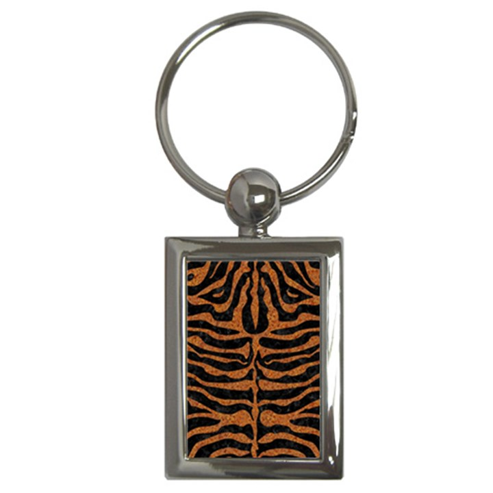 SKIN2 BLACK MARBLE & RUSTED METAL (R) Key Chains (Rectangle)