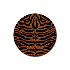 Skin2 Black Marble & Rusted Metal (r) Rubber Round Coaster (4 Pack)