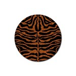 SKIN2 BLACK MARBLE & RUSTED METAL (R) Rubber Round Coaster (4 pack)  Front