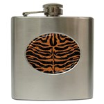SKIN2 BLACK MARBLE & RUSTED METAL (R) Hip Flask (6 oz) Front