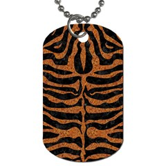 Skin2 Black Marble & Rusted Metal (r) Dog Tag (two Sides)