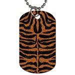 SKIN2 BLACK MARBLE & RUSTED METAL (R) Dog Tag (Two Sides) Back