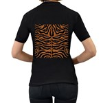 SKIN2 BLACK MARBLE & RUSTED METAL (R) Women s T-Shirt (Black) (Two Sided) Back