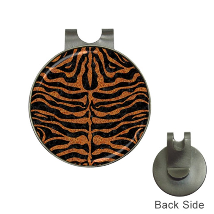 SKIN2 BLACK MARBLE & RUSTED METAL (R) Hat Clips with Golf Markers