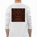 SKIN2 BLACK MARBLE & RUSTED METAL (R) White Long Sleeve T-Shirts Back