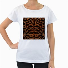 Skin2 Black Marble & Rusted Metal (r) Women s Loose Fit T Shirt (white)