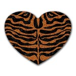 SKIN2 BLACK MARBLE & RUSTED METAL (R) Heart Mousepads Front