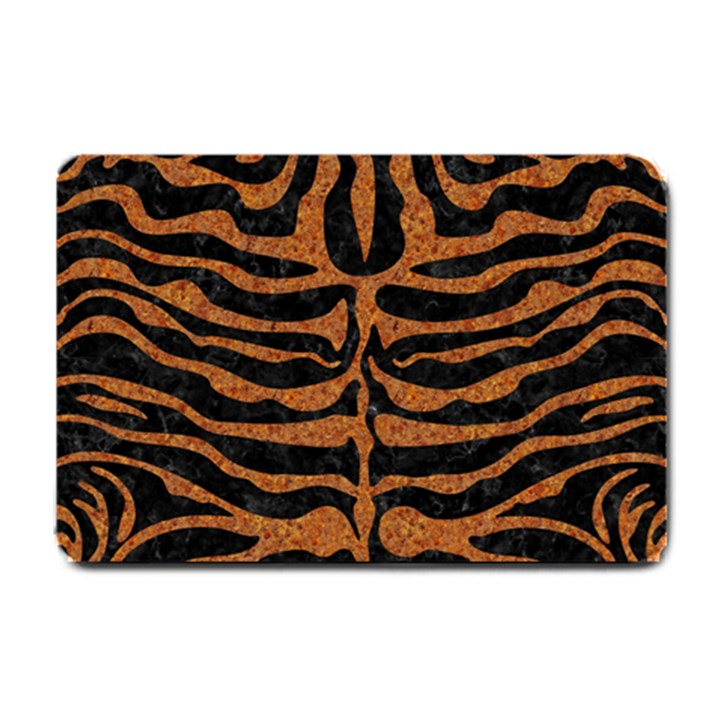 SKIN2 BLACK MARBLE & RUSTED METAL (R) Small Doormat