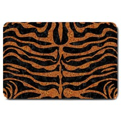 Skin2 Black Marble & Rusted Metal (r) Large Doormat