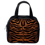 SKIN2 BLACK MARBLE & RUSTED METAL (R) Classic Handbags (One Side) Front