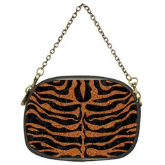 Skin2 Black Marble & Rusted Metal (r) Chain Purses (two Sides)
