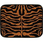 SKIN2 BLACK MARBLE & RUSTED METAL (R) Fleece Blanket (Mini) 35 x27 Blanket