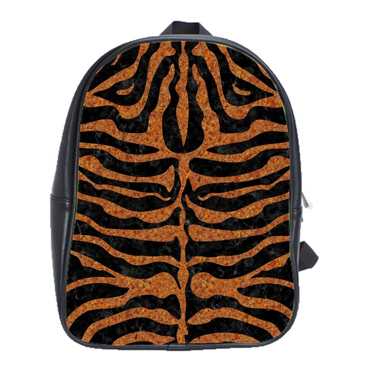 SKIN2 BLACK MARBLE & RUSTED METAL (R) School Bag (Large)