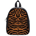 SKIN2 BLACK MARBLE & RUSTED METAL (R) School Bag (Small) Front