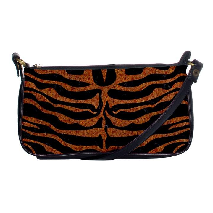 SKIN2 BLACK MARBLE & RUSTED METAL (R) Shoulder Clutch Bags
