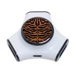 SKIN2 BLACK MARBLE & RUSTED METAL (R) 3-Port USB Hub Front