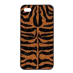 SKIN2 BLACK MARBLE & RUSTED METAL (R) Apple iPhone 4/4s Seamless Case (Black) Front