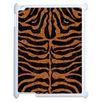 SKIN2 BLACK MARBLE & RUSTED METAL (R) Apple iPad 2 Case (White) Front