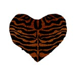 SKIN2 BLACK MARBLE & RUSTED METAL (R) Standard 16  Premium Heart Shape Cushions Back