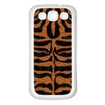 SKIN2 BLACK MARBLE & RUSTED METAL (R) Samsung Galaxy S3 Back Case (White) Front
