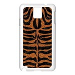 SKIN2 BLACK MARBLE & RUSTED METAL (R) Samsung Galaxy Note 3 N9005 Case (White) Front