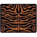 SKIN2 BLACK MARBLE & RUSTED METAL (R) Double Sided Fleece Blanket (Medium)  58.8 x47.4 Blanket Back