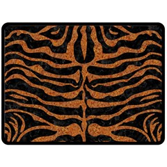 Skin2 Black Marble & Rusted Metal (r) Double Sided Fleece Blanket (large)