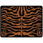 SKIN2 BLACK MARBLE & RUSTED METAL (R) Double Sided Fleece Blanket (Large)  80 x60 Blanket Front