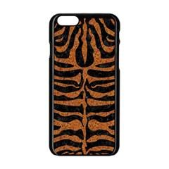 Skin2 Black Marble & Rusted Metal (r) Apple Iphone 6/6s Black Enamel Case
