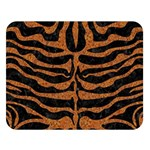 SKIN2 BLACK MARBLE & RUSTED METAL (R) Double Sided Flano Blanket (Large)  80 x60 Blanket Front