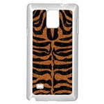 SKIN2 BLACK MARBLE & RUSTED METAL (R) Samsung Galaxy Note 4 Case (White) Front